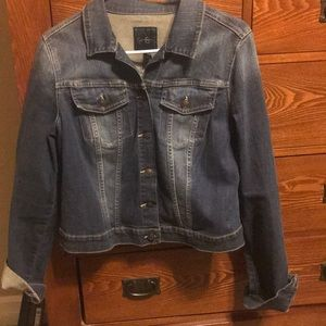 Jessica Simpson fitted denim jacket - size Large
